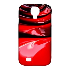 Red Fractal Mathematics Abstract Samsung Galaxy S4 Classic Hardshell Case (pc+silicone)