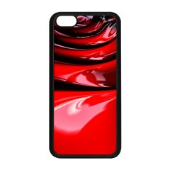 Red Fractal Mathematics Abstract Apple Iphone 5c Seamless Case (black)