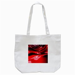 Red Fractal Mathematics Abstract Tote Bag (white)