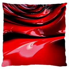 Red Fractal Mathematics Abstract Large Flano Cushion Case (one Side)