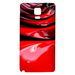 Red Fractal Mathematics Abstract Galaxy Note 4 Back Case
