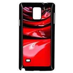 Red Fractal Mathematics Abstract Samsung Galaxy Note 4 Case (black)
