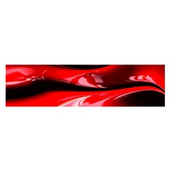 Red Fractal Mathematics Abstract Satin Scarf (oblong)