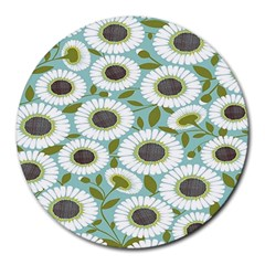 Sunflower Flower Floral Round Mousepads