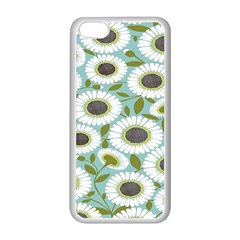 Sunflower Flower Floral Apple iPhone 5C Seamless Case (White)