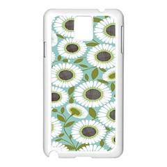 Sunflower Flower Floral Samsung Galaxy Note 3 N9005 Case (White)
