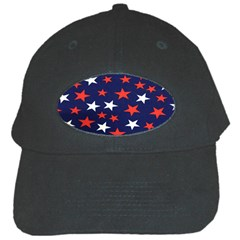 Star Red White Blue Sky Space Black Cap