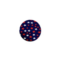 Star Red White Blue Sky Space 1  Mini Buttons