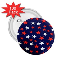Star Red White Blue Sky Space 2 25  Buttons (100 Pack)