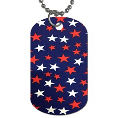 Star Red White Blue Sky Space Dog Tag (two Sides)