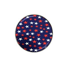 Star Red White Blue Sky Space Hat Clip Ball Marker (4 Pack)