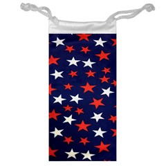 Star Red White Blue Sky Space Jewelry Bag