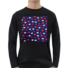 Star Red White Blue Sky Space Long Sleeve Dark T Shirts