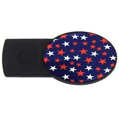 Star Red White Blue Sky Space USB Flash Drive Oval (4 GB)