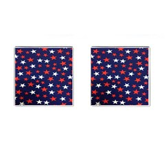 Star Red White Blue Sky Space Cufflinks (square)