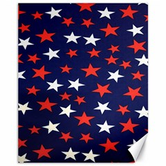 Star Red White Blue Sky Space Canvas 11  x 14