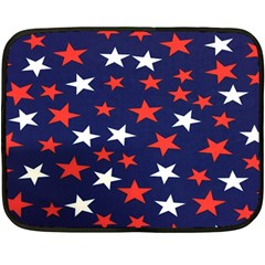 Star Red White Blue Sky Space Fleece Blanket (mini)