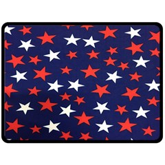 Star Red White Blue Sky Space Fleece Blanket (large)
