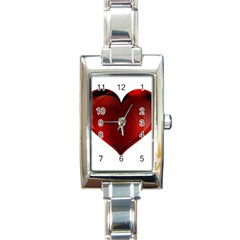 Heart Gradient Abstract Rectangle Italian Charm Watch