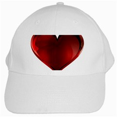 Heart Gradient Abstract White Cap