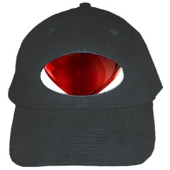 Heart Gradient Abstract Black Cap