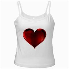 Heart Gradient Abstract White Spaghetti Tank