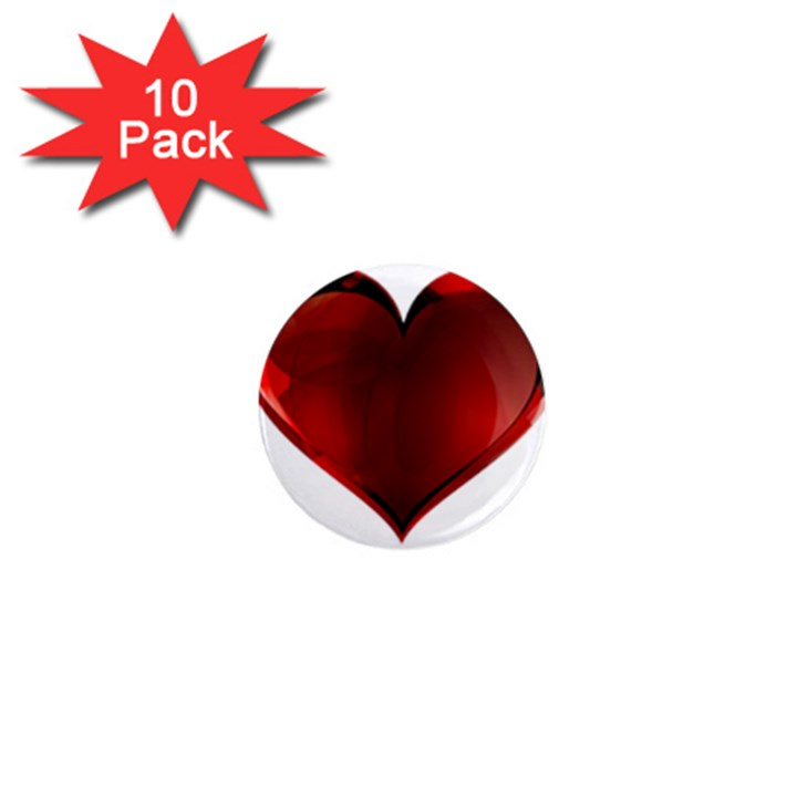 Heart Gradient Abstract 1  Mini Magnet (10 pack)