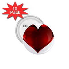 Heart Gradient Abstract 1 75  Buttons (10 Pack)