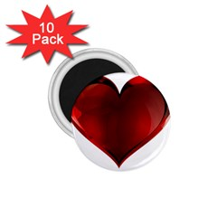 Heart Gradient Abstract 1 75  Magnets (10 Pack)