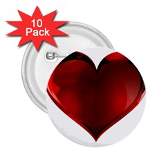 Heart Gradient Abstract 2.25  Buttons (10 pack)