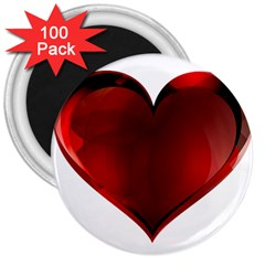 Heart Gradient Abstract 3  Magnets (100 pack)