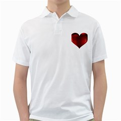 Heart Gradient Abstract Golf Shirts
