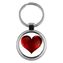Heart Gradient Abstract Key Chains (round)