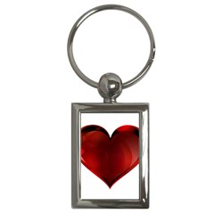 Heart Gradient Abstract Key Chains (Rectangle)