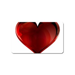 Heart Gradient Abstract Magnet (name Card)