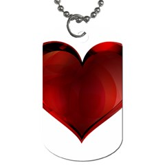 Heart Gradient Abstract Dog Tag (one Side)