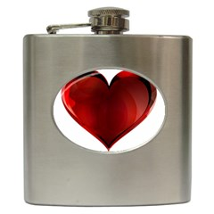 Heart Gradient Abstract Hip Flask (6 Oz)