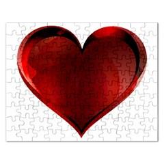Heart Gradient Abstract Rectangular Jigsaw Puzzl