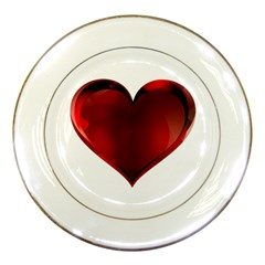 Heart Gradient Abstract Porcelain Plates