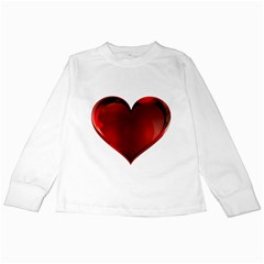 Heart Gradient Abstract Kids Long Sleeve T Shirts