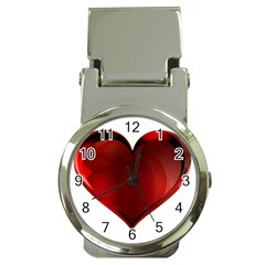 Heart Gradient Abstract Money Clip Watches