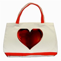 Heart Gradient Abstract Classic Tote Bag (red)