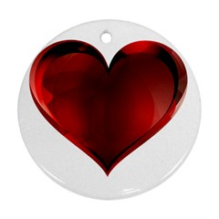 Heart Gradient Abstract Round Ornament (two Sides)