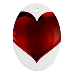 Heart Gradient Abstract Oval Ornament (two Sides)