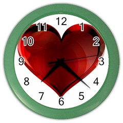 Heart Gradient Abstract Color Wall Clocks