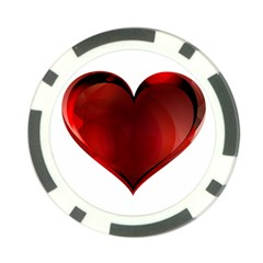 Heart Gradient Abstract Poker Chip Card Guard