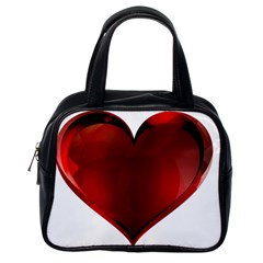 Heart Gradient Abstract Classic Handbags (one Side)