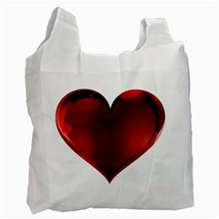 Heart Gradient Abstract Recycle Bag (one Side)
