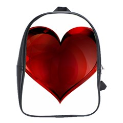 Heart Gradient Abstract School Bags(large)