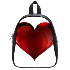 Heart Gradient Abstract School Bags (Small)